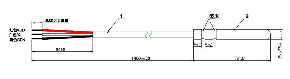 温度传感器DS18B20系列-D1