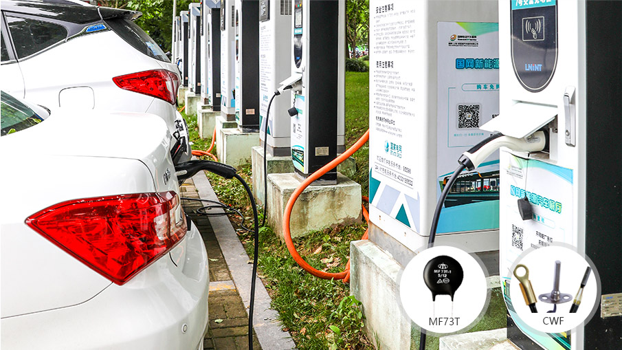 上汽新能源汽车热敏电阻器案例!
