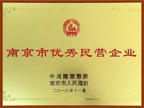 南京市优秀民营企业